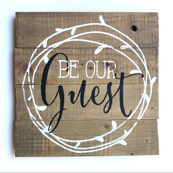 NWT Be Our Guest Home Decor Accent